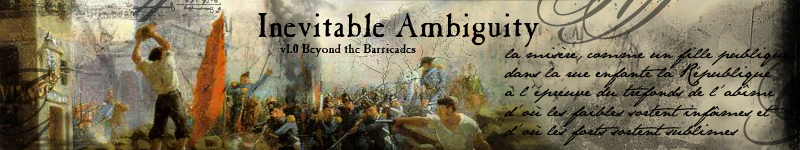 Inevitable Ambiguity v1.0 Beyond the Barricades: Carmarthen's Fanstuff